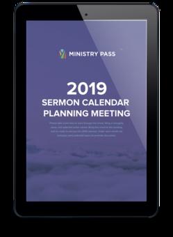 Sermon Calendar Planning Meeting Worksheet