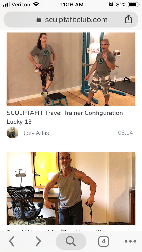 home office and travel fitness videos