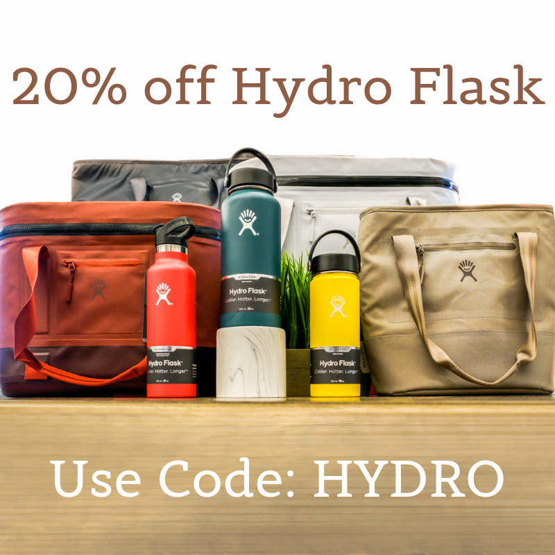 20% off Hydro Flask