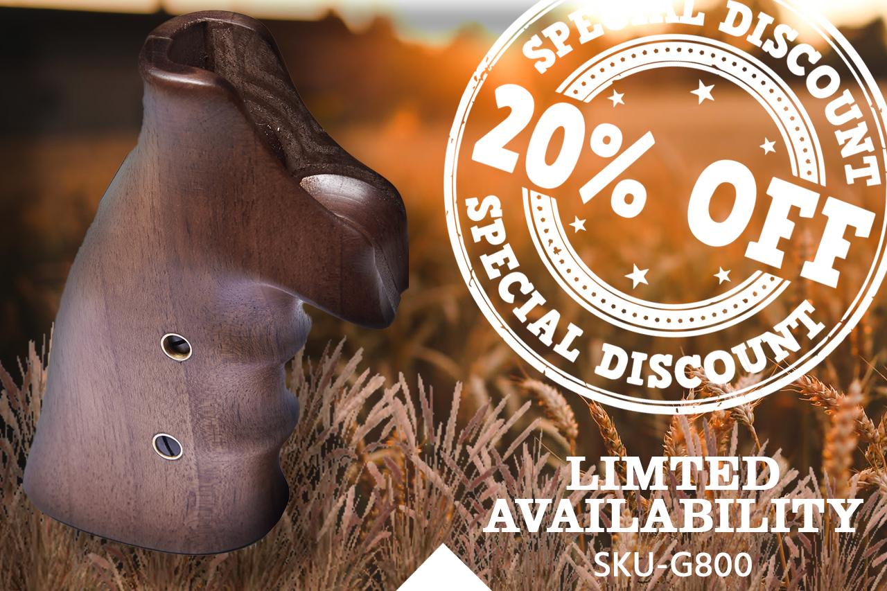 20% off the Korth Turkish Walnut Grips